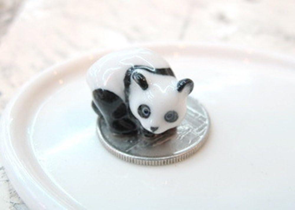 ChangThai Design Dollhouse Miniatures Ceramic Panda ss Figurine Animals Decor