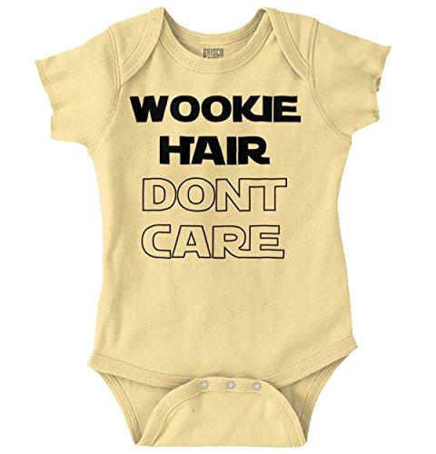 Brisco Brands Wookie Hair Don't Care Cute Nerdy Geeky Romper Bodysuit ()