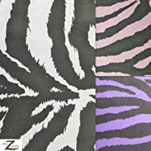 """PINK ZEBRA PRINT POLY COTTON FABRIC 58""""/59"""" WIDTH SOLD BY THE YARD (P238)"""
