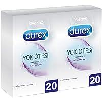 Durex Yok Ötesi Ultra Kaygan Prezervatif, 40'lı Ekonomik Avantaj Paket (2 x 20 Adet)