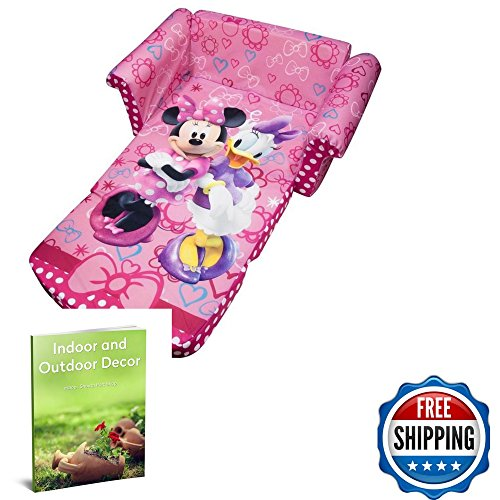 Kids Pull Out Couch Open Bed Minnie Mouse Figure Pink Colour & Ebook by Souyh port shop