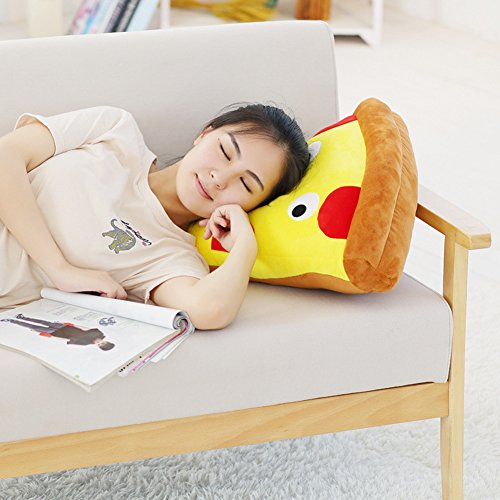 Soft Funny Plush Toys Creative Simulation Pizza and Fries Plush Pillow Festival Decor Sofa Cushion Birthday Gift (Plush Pillow Pizza)