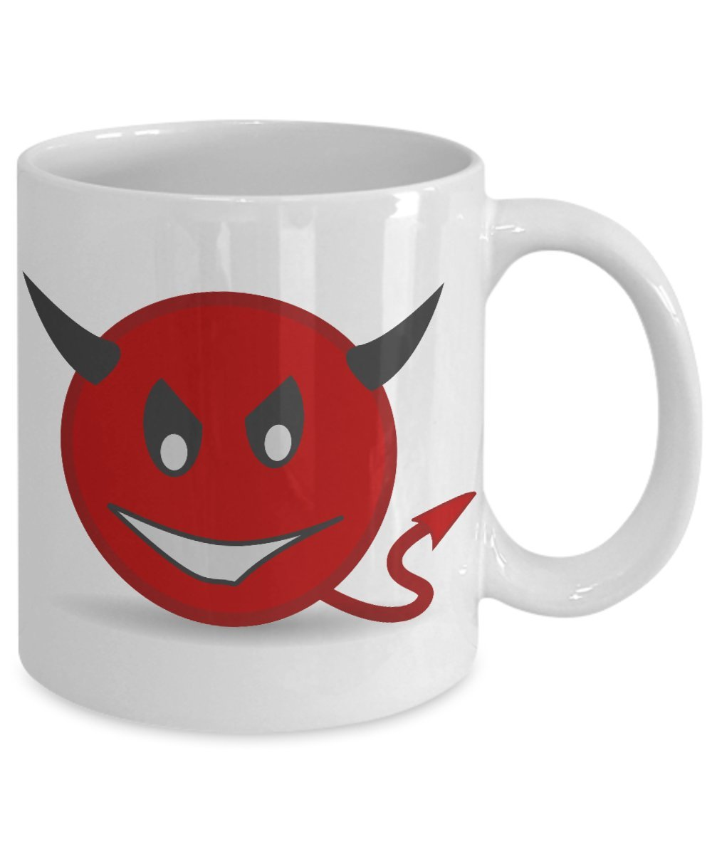 Amazoncom Devil Emoji Mug Red Emoticon Funny Coffee Cup Kitchen