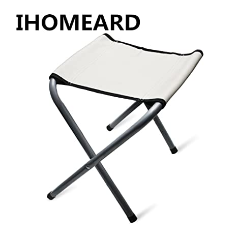 Good IHOMEARDCamping Durable Folding Canvas Chairs Steel Frame Portable Foldable  Chair Indoor Outdoor Picnic Fishing Dining Camp