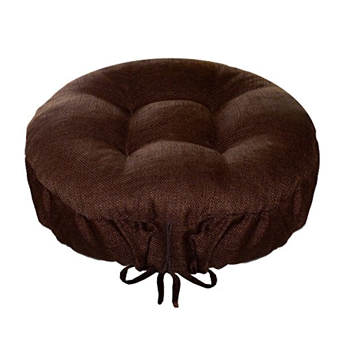 Bar Stool Cover - Rave Chocolate Brown - Indoor / Outdoor Bar stool Cushion - Latex Foam Bar Stool Cushion with Adjustable Drawstring, Extra-Large) (Large Chocolate Brown Cushions)