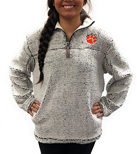 (Clemson Tigers Poodle Jacket; 1/4 Zipper University Apparel Clothing)