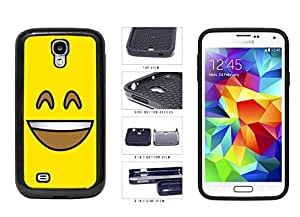 Bright Yellow Smiley Grin with Teeth Face 2-Piece Dual Layer Phone Case Back Cover Samsung Galaxy S4 I9500