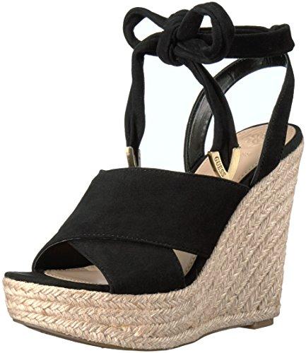 Guess WoMen Oshira Wedge Sandal Black