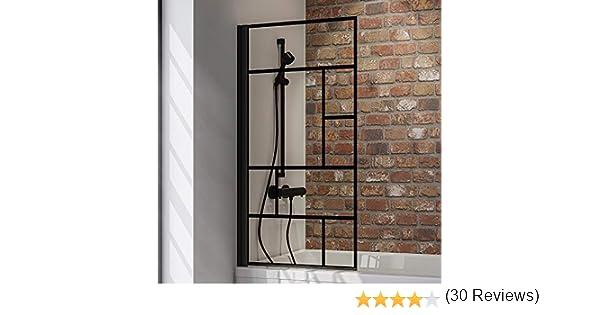 Schulte - Mampara de ducha Black Style, 1 o 2 piezas, cristal de ...
