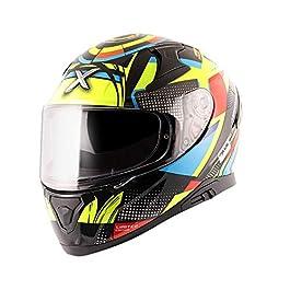 axor Apex Polycarbonate Vivid Black Neon Yellow Helmet-M (Motocross)