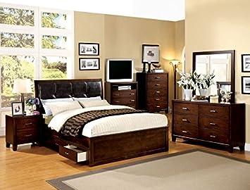 Furniture of America Benton 2 Drawer Nightstand