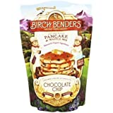 Organic Chocolate Chip Pancake and Waffle Mix by Birch Benders, Whole Grain, Soy-free, Non-GMO, 16oz