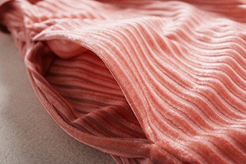 Di Paletta `s Rosa Autunno Manica La Primavera Corta Colore Di Donne Vestito Velluto Delle Colore Vestito Di Vestiti Da Solido Moda Cotyledon Per npx0fAdf