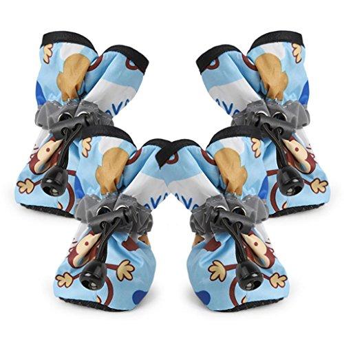 Sky Blue Snake - YJYdada Comfortable Anti-slip Shoes Puppy Dog Cat Rain Boots (M, Sky Blue)