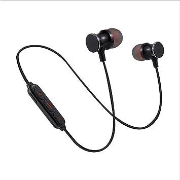 YFQH Auriculares Magnéticos Inalámbricos del Metal De Bluetooth Deportes Que Funcionan con El Sistema Androide De iOS Regalos Universales De La Manera ...