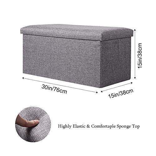 Jiatua Foldable Storage Ottoman Square Cube Foot Rest
