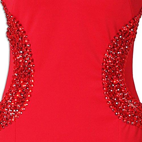 Cuello Vestido Elegantes Vestidos Largos De Bola Noche Kaxidy Largo Rojo Fiesta Mujer V xaYqYfwT