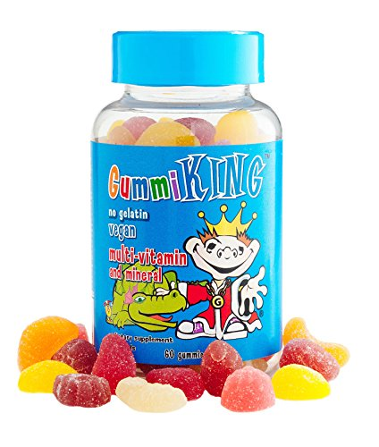 - Gummi King Multivitamin and Mineral Supplement, Strawberry/Lemon/Orange/Grape/Cherry/Grapefruit, 60 Count