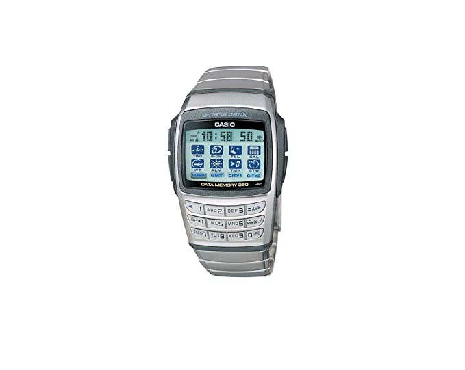 Producto nuevo para hombre arma de juguete Casio EDB610-1 Stanless Digital base acero calculadora reloj infantil con mecanismo de base 350 páginas: ...