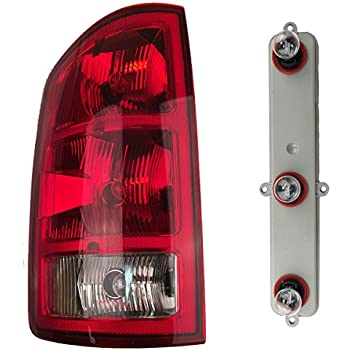 2002-2006 Dodge Ram 1500 & 2003-2006 2500 3500 Pickup Truck Tail Light Lamp (with Circuit Board Bulbs Socket) Taillight Taillamp Left Driver Side (2002 02 2003 03 2004 04 2005 05 2006 06)