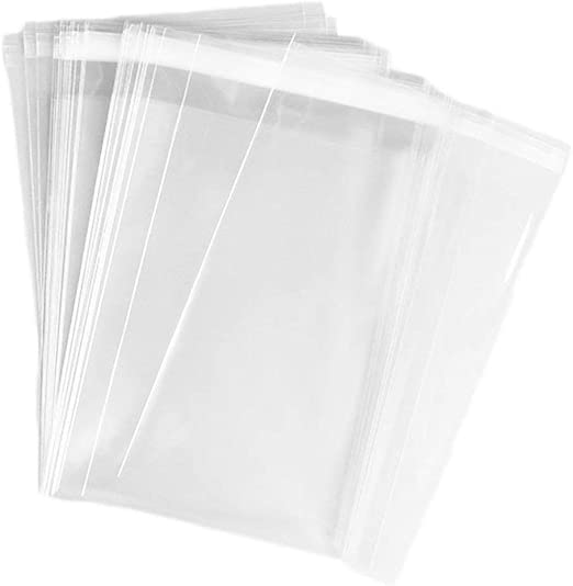 100PCS Transparent Plastic Pack Candy Cookie OPP Self  Adhesive Gift Bags