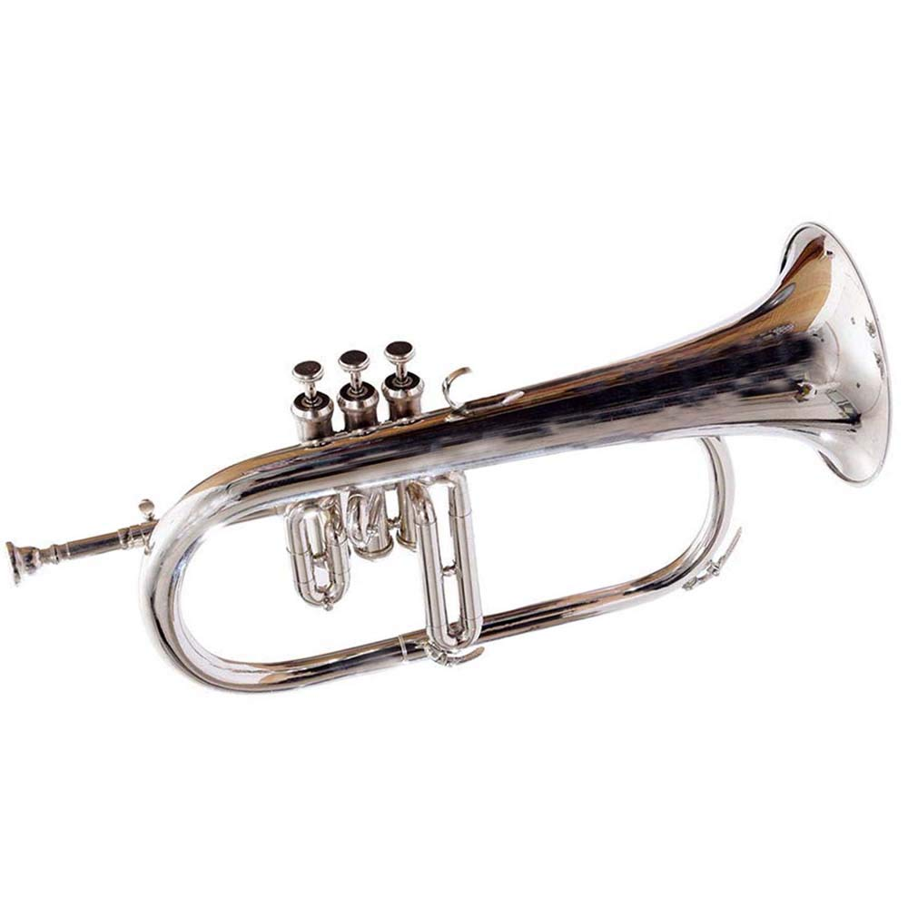 SC EXPORTS Bb Flat Silver Nickel Flugel Horn With Free Hard Case+Mouthpiece by SCEXPORTS (Image #3)