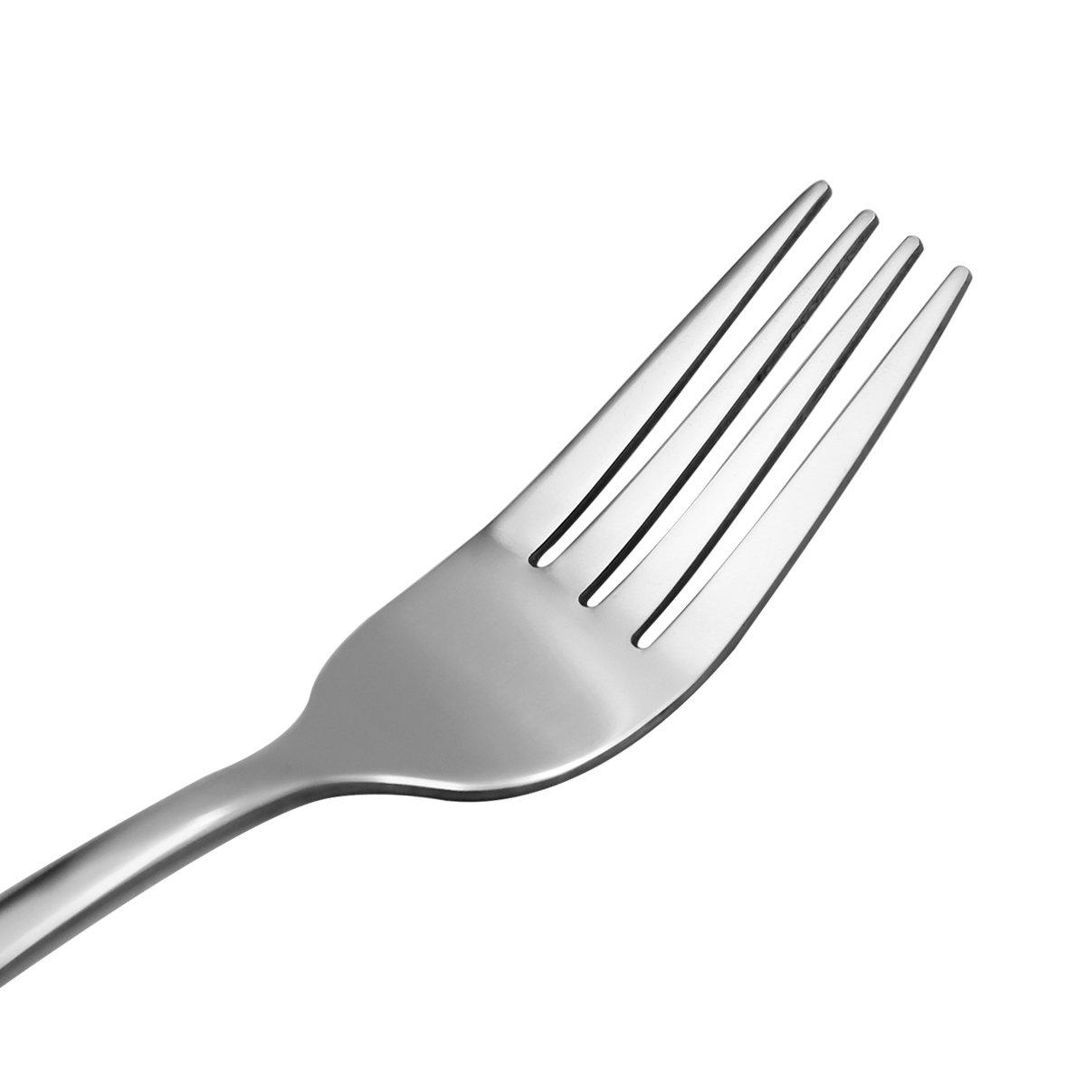 Hippih Dinner Fork Flatware Set 12 Piece Anti-Scald Metal Cutlery Set