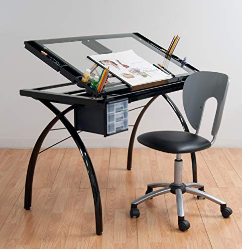 Studio Designs 10072 Futura Craft Station, Black/Clear Glass ()