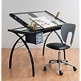 Studio Designs 10072 Futura Craft Station, Black/Clear Glass