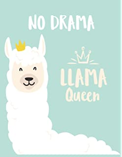 2d349d86 Llama with no drama: Llama with no drama on pink cover (8.5 x 11 ...