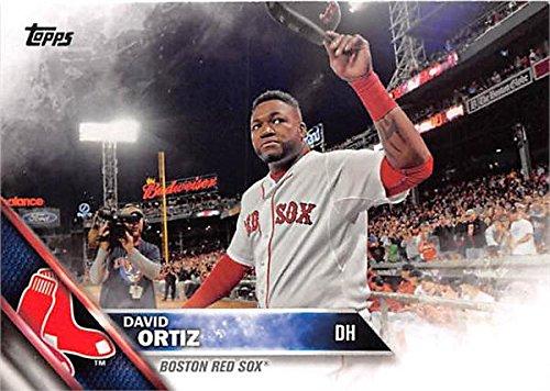 - David Ortiz baseball card (Boston Red Sox) 2016 Topps #400 Farewell Cap Wave