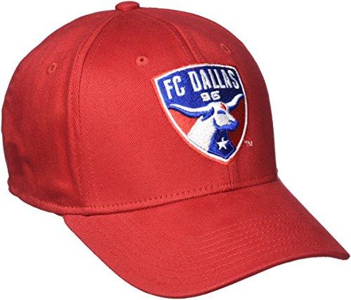MLS FC Dallas Men's Basic Structured Flex Cap, Small/Medium, Red