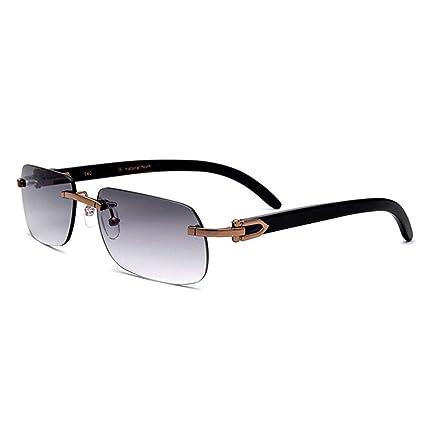 HONGNA Cuernos Gafas De Sol Preciosas Blancas Cuernos ...