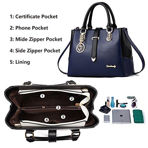 imbettuy spalla di di modo retro borsa Messenger donna nuovo sacchetto stile borsa Blu casuale fwYqxTfAr