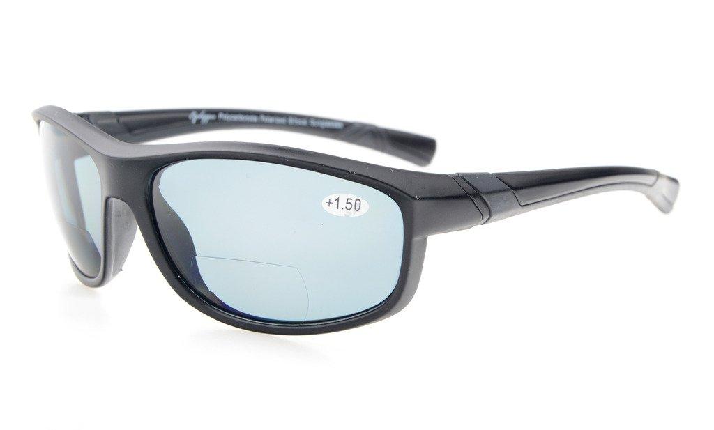 4efc79d7e4b Amazon.com  Eyekepper Polycarbonate Polarized Bifocal Sport Sunglasses For  Women Baseball Running Fishing Driving Golf Softball Hiking TR90  Unbreakable ...