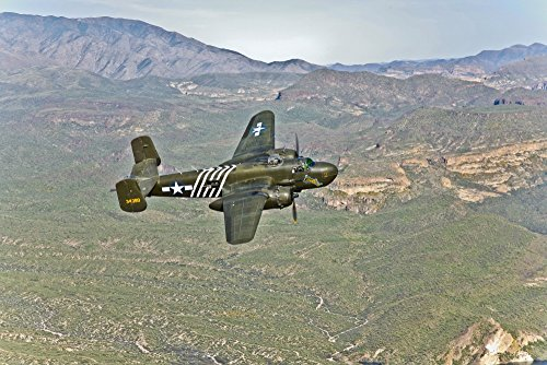 Posterazzi PSTSGR100153M North American B-25G Mitchell Bomber nicknamed Barbie 1st Air Commandos in The China/Burma/India Theater of World War II Poster Print, 17 x 11 (Best Commando In India)