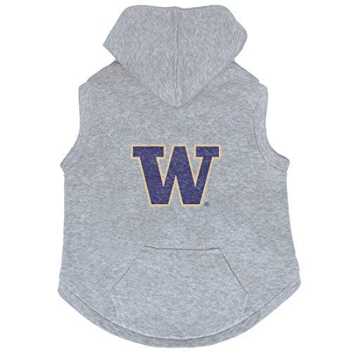 NCAA Washington  Huskies Pet Hooded Crewneck, XXL