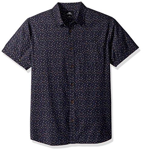 O'Neill Men's Modern Fit Short Sleeve Woven Party Shirt, Rowdy Navy, (Button Up Woven Sport Shirt)