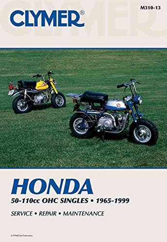 Clymer Honda 50-110cc OHC Singles, 1965-1999: Service, Repair, Maintenance (Clymer Motorcycle)