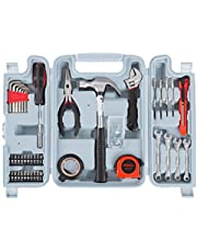 Save on Stalwart Tool Kit - 124 Heat-Treated Pieces with Carrying Case - Essential Steel Hand Tool and Basic Repair Set for Apartments, Dorm, Homeowner and more