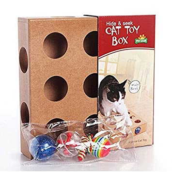 jouet chat boite