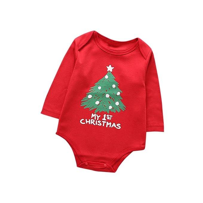 Yannerr Bebé niña recién nacido Niño ropa de Navidad impresión ...