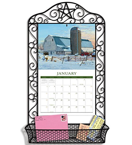 - LANG Black Wrought Iron Calendar Frame