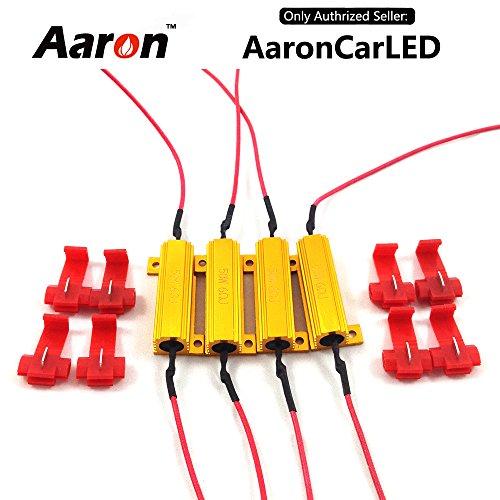 4Pcs Aaron 50W 6ohm Load Resistors – Fix LED Bulb Fast Hyper Flash Turn Signal Blink Error Code