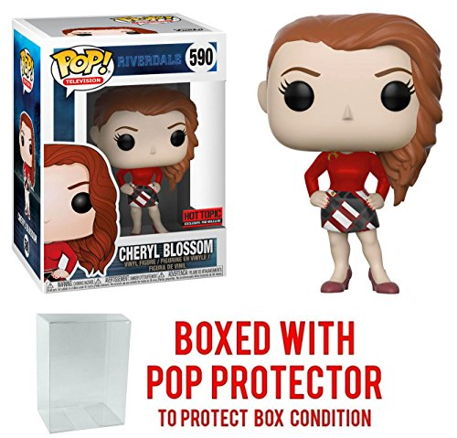 Cheryl Blossom Hot Topic Exclusive - Funko Pop Riverdale Vinyl Figure Bundled with Pop Protector
