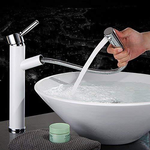 JingJingnet 洗面器ミキサータップ浴室のシンクの蛇口洗面器の冷水の蛇口と全体の銅の蛇口の引き出し、洗面器の蛇口、 (Color : B) B07S1L7GVV B