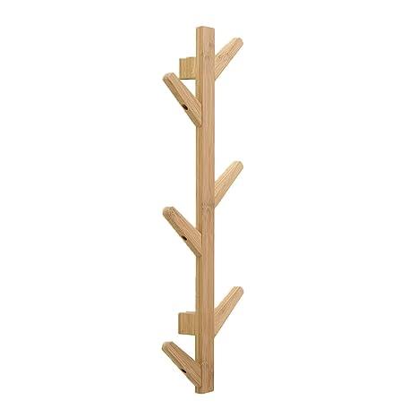 Toyvian Perchero de bambu de Pie con 6 Ganchos | Rama de ...