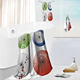 SCOCICI1588 elegant bath towel set Clear Weather Sky Sun Sky With Clouds Solar Of Clean Energy Power Artwork Soft & Absorbent 13.8''x13.8''-11.8''x27.6''-27.6''x55.2''