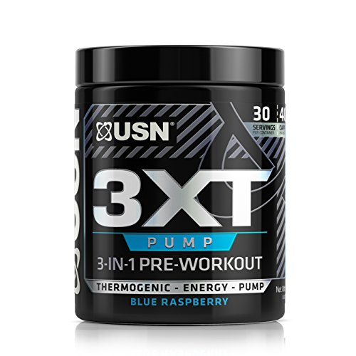 Pre Training (USN 3XT-PUMP Pre-Thermo, Blue Raspberry)