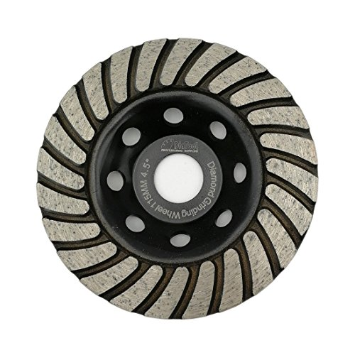 Wheel Cup Turbo 4 - SHDIATOOL 4-1/2 Inch Diamond Turbo Row Grinding Cup Wheel Fits 7/8 Inch Arbor Diamond Grinding Disc for Concrete Masonry